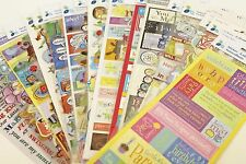 22 Packages Momenta Scrapbooking Stickers Card Making,Paper Crafts