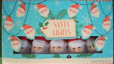 set of 10 high quality colourful vintage retro style SANTA fairy lights LED 2AA