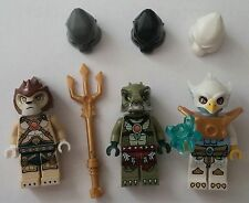 LEGO® Legends of Chima™ 3 Figuren Laval Crocenburg Eris Zubehör Neu Figures new
