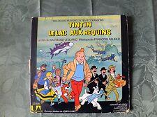 livre disque 33 tours tintin et le lac aux requins