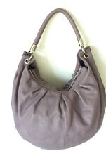 Dimoni Made In Spain Gorgeous Muted Purple Leather Large Hobo Bag Perfect!