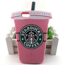 HOT! Starbuck Coffee Cup Soft Silicone Phone Case For iPhone 7 Back Cover