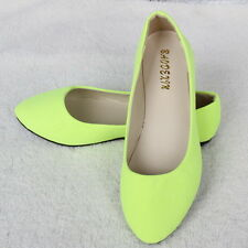 New Women's Ballet  Slip On Boat shoes Flats Loafers Single Shoes Size 5-10