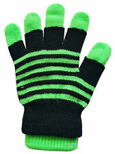 Ladies 2 in 1 Magic Gloves Stripy & Solid Designs Various Colours Winter Warm