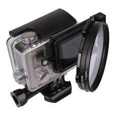 Aluminum Alloy 58mm Lens Filter Adapter Ring Aluminum for GoPro Hero 3/3+/4 NEW