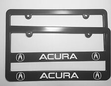 Acura Logo Plastic License Plate Frame Holder With Decals Two TLX RLX RDX