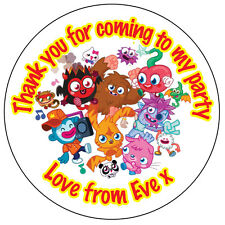 70 x Personalised Moshi Monster Round Labels Stickers Party bag Thank You 023