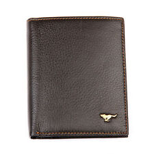Men Cow Bifold Leather Wallet Credit Card Septwolves Purse brown 313232-02-Y