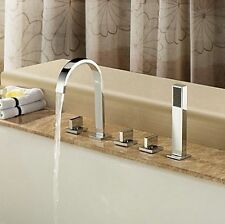 Luxury 5 Pcs Bath Tub taps faucet mixer With Hand Held Shower set  Mixer GH27S