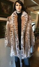 "$24K RETAIL! AMERICAN LYNX SWING FUR COAT/STROLLER/JACKET 35"" LENGTH! M/L/XL!"