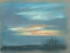 IMPRESSIONIST LANDSCAPE Pastel Drawing MARCUS ADAMS 1957