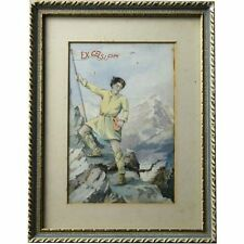 Fine Robert Anning Bell RA Mountaineer Illustration Watercolour Picture Painting