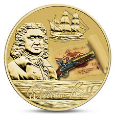 TUVALU 1 DOLLAR PIRATE WILLIAM KIDD SHIP BOAT 2011 BU