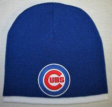 Chicago Cubs Beanie ~SKULL CAP ~HAT ~PRIMARY MLB PATCH/LOGO ~11 Cool Colors ~NEW