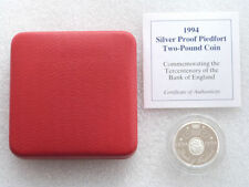 1994 Bank of England Piedfort £2 Two Pound Silver Proof Coin Box Coa