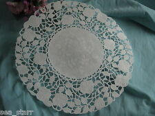 """50 - 8"""" INCH Off WHITE IVORY PAPER ROSE FLORAL LACE DOILIES CRAFT VICTORIAN"""