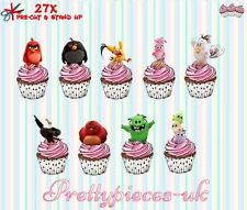 Angry Birds The Movie 27 Stand-Up, Pre-Cut, Wafer Paper Cup cake Toppers