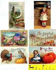 Miniature  Victorian Thanksgiving  Prints  - Dollhouse  1:12 scale