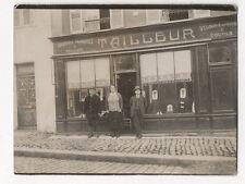 PHOTO ANCIENNE - Groupe Boutique Magasin Devanture Tailleur Couturier Vers 1910
