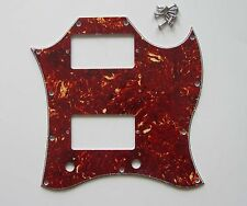 SG Standard Full Face Guitar Pickguard Scratch Plate Vintage Tortoise w/ Screws