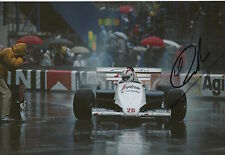 Johnny Cecotto Hand Signed 12x8 Photo Toleman Group F1 1.