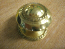 Georgian Style, Rope Edge  Brass Door Kitchen Cabinet Pull Knob  Handle - 2 inch