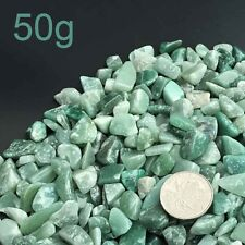 50g 4-6mm Powerful DIY Natural Green Rough Rock Healing Stones Mineral Specimen