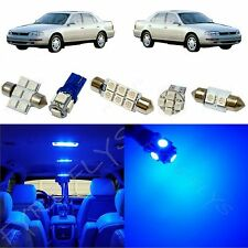 7x Blue LED lights interior package kit for 1992-1996 Toyota Camry TC7B