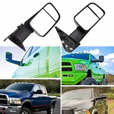 2 Tow Mirrors Power Heated Led Signal For Dodge Ram 1500 02-08/2500 3500 03-09