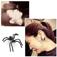 1Pc Halloween Goth Black Spider Vintage Retro Style Ear Stud Earrings Jewelry