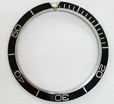 Black bezel ring insert fit Planet Ocean watch replacement 40.5mm