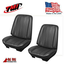 1970 Chevelle Coupe Front Bucket Seat Upholstery  Black Vinyl IN STOCK! by TMI