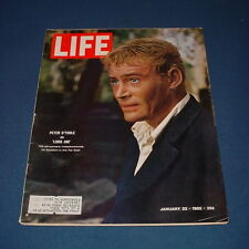 LIFE MAGAZINE JANUARY 22 1965 PETER OTOOLE ARTHUR MILLER THE KILIMANJARO MACHINE
