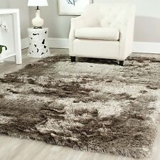 Safavieh Handmade Silken Glam Paris Shag Sable Brown Polyester Rug (5' x 7')