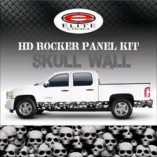"""Skull Wall Rocker Panel Graphic Decal Wrap Truck SUV - 12"""" x 24FT"""