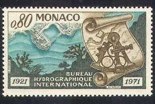 Mónaco 1971 hidrográfico Mesa/Marine/Océano/sextante/puerto/Coral 1v (n39511)