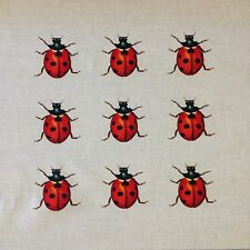 TEX EX ORIGINALE Flora & Fauna COCCINELLA COLLECTOR Cuscino Pannello Biancheria Bug insetto
