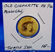 "Anna Boyd Theatre Star Old Pin Pinback Button 7/8"" Sweet Caporal Cigarette"