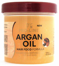 PRO-LINE ARGAN OIL HAIR FOOD FORMULA NOURISHES CONDITIONS HAIR SCALP 4.5 OZ.