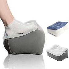 Soft Inflatable Foot Rest Pillow Footrest Relax Cushion PVC Flocking Travel Home
