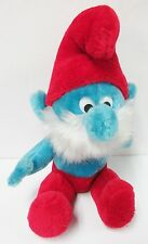 "Papa Smurf by Wallace Berrie & Co * 10"" Plush * Circa 1979 * Used - Nearly New"