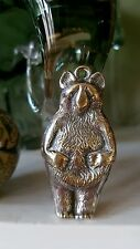 Antique silver/ silver plate? babys rattle/teether teddy bear .