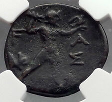 OLYMPIA in ELIS OLYMPIC GAMES Home 200BC Authentic Ancient Greek Coin NGC i60268