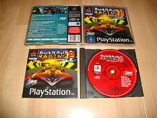 ROCK & ROLL RACING 2 RED ASPHALT BY INTERPLAY FOR PS1 USED COMPLETE
