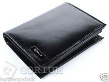 MENS WALLETS DESIGNER BLACK QUALITY REAL LEATHER WALLET CREDIT CARD HOLDER