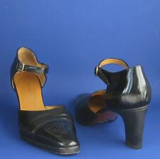 Pre-Owned Ralph Lauren Collection Black Spectator Ankle Strap Pumps 8.5B