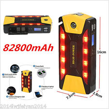 82800mAh High-Power Portable Car Jump Starter Booster Battery Charger Power Bank