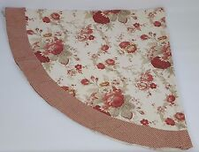 Waverly Garden Room Norfolk Rose Tablecloth Oblong Gingham Check Oval 68 X 62