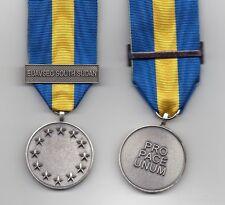 EU-ESDP FULL-SIZE  MEDAL WITH CLASP: EUAVSEC SOUTH SUDAN