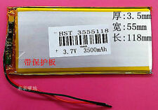 3555118P BATTERY 3500 mAh 3.7v  FOR TAB  TABLET DEVICE ETC.